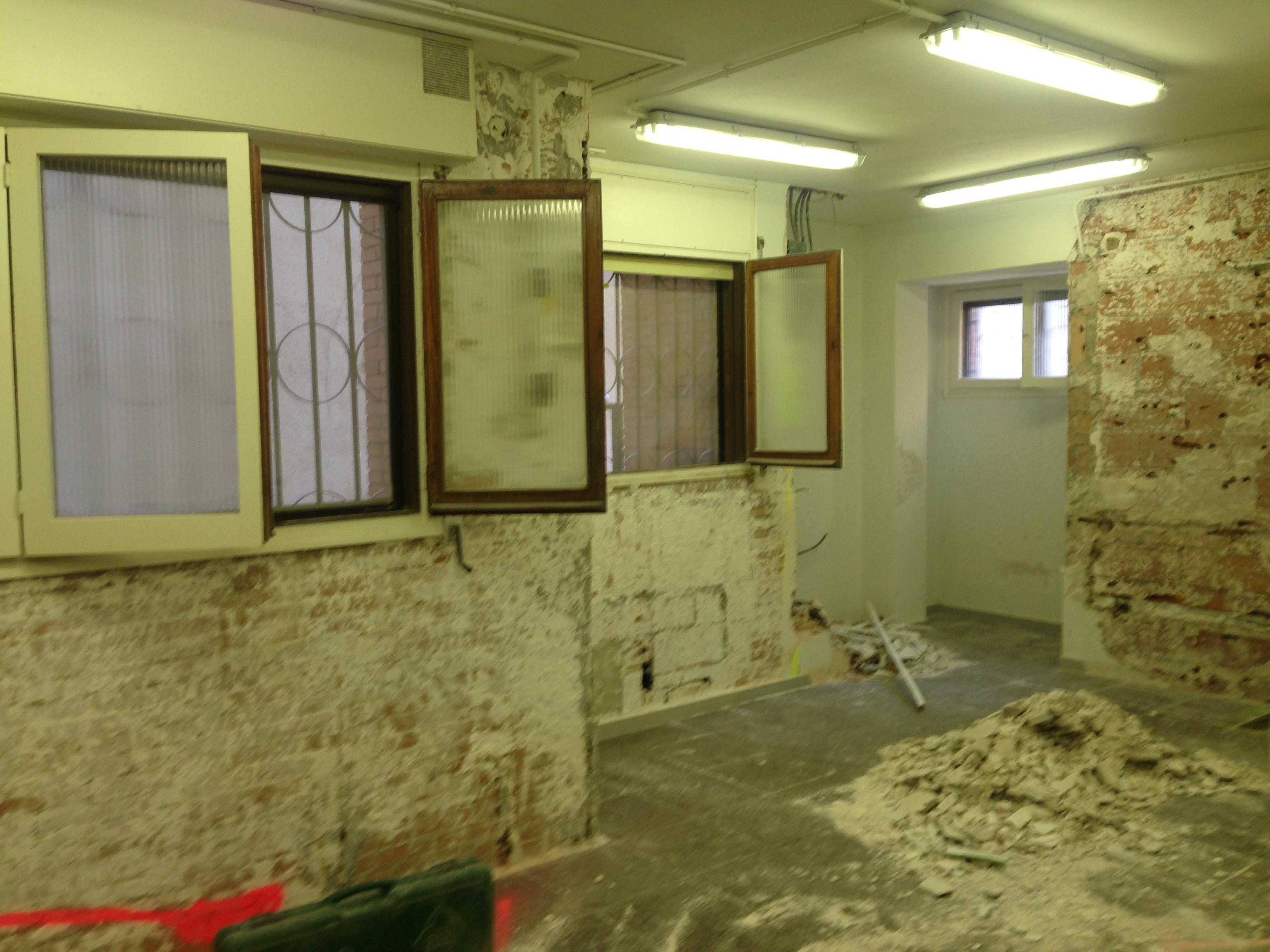 instalación de cocina english school antes de reformar