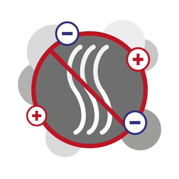 Funcionamiento de la ionización bipolar para garantizar la calidad del aire, paso 3